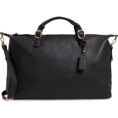 Sole Society Grant Faux Leather Weekend Bag - Black