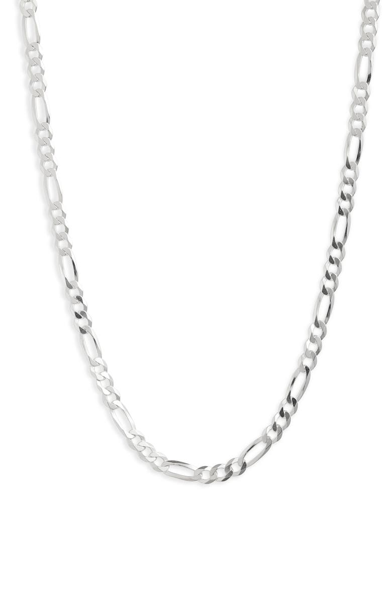 LOREN STEWART Moderna Figaro Extra Large Chain, Main, color, STERLING SILVER