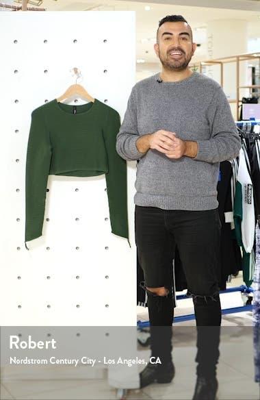 Rib Crop Long Sleeve Top, sales video thumbnail