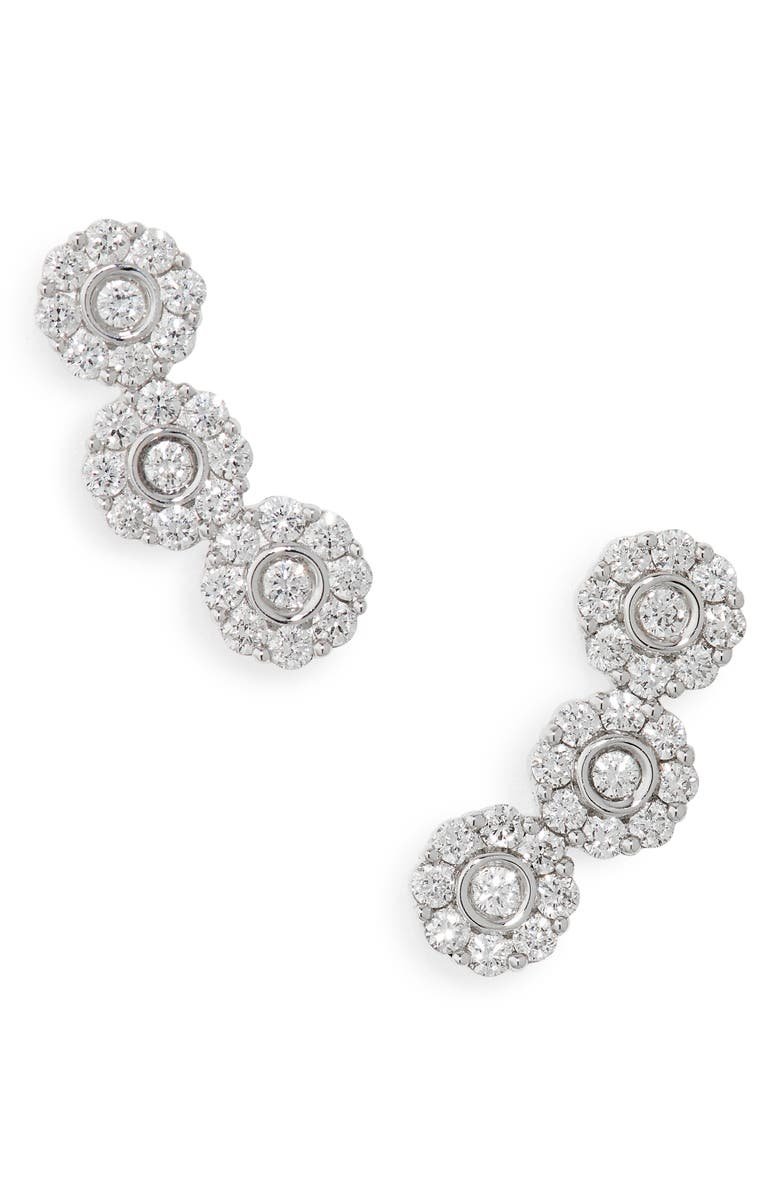 HUEB Diamond Flower Earrings, Main, color, 040