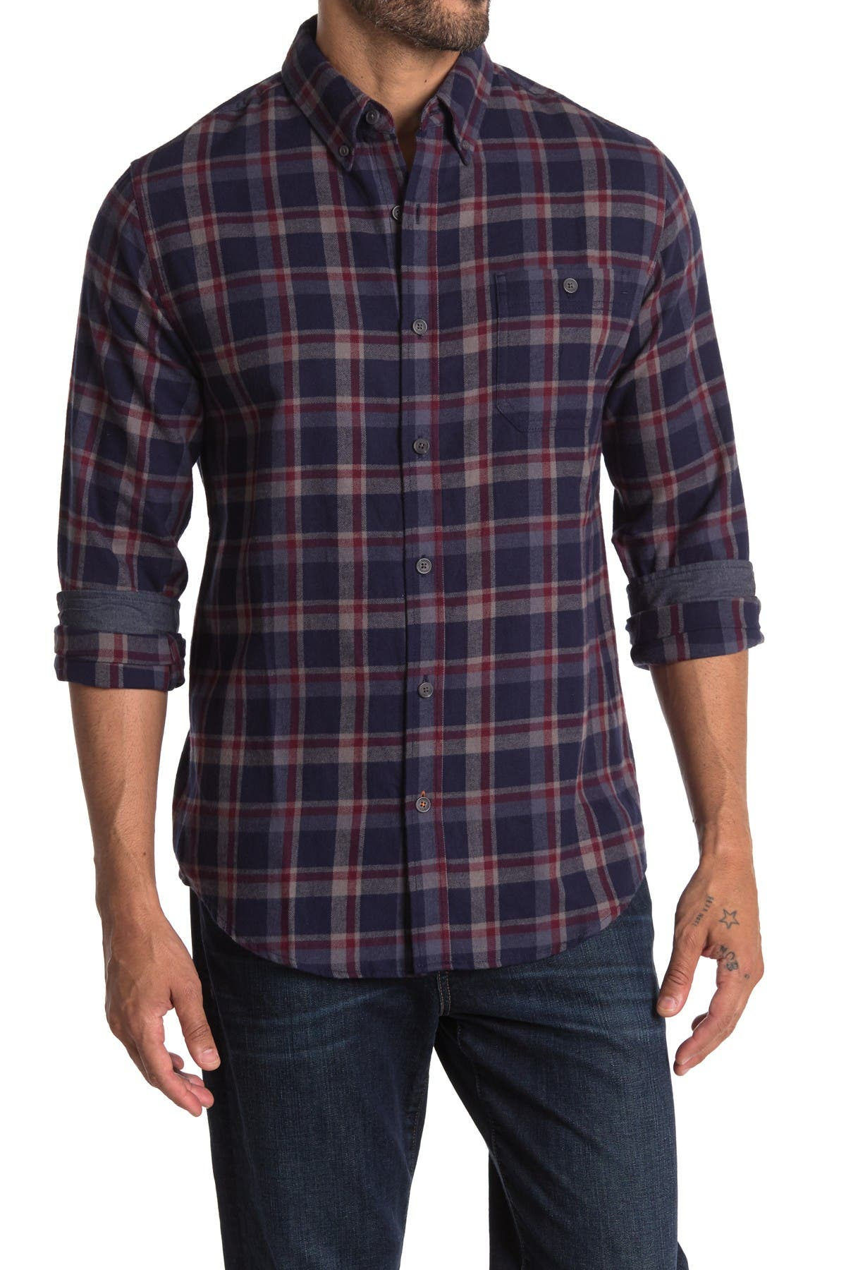 Image of weatherproof Antique Plaid Print Flannel Shirt
