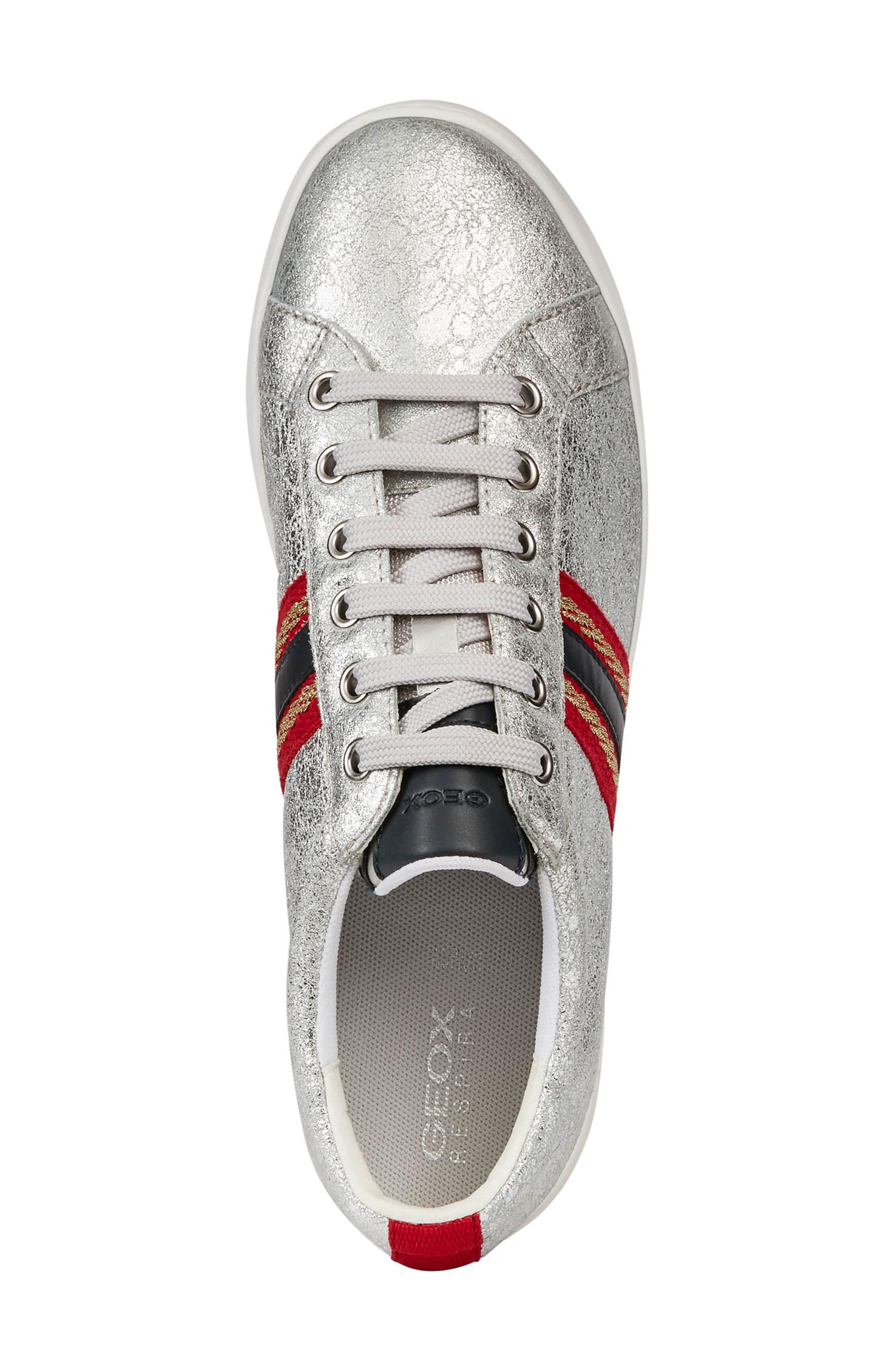 ,                             Jaysen Sneaker,                             Alternate thumbnail 5, color,                             SILVER/ NAVY LEATHER