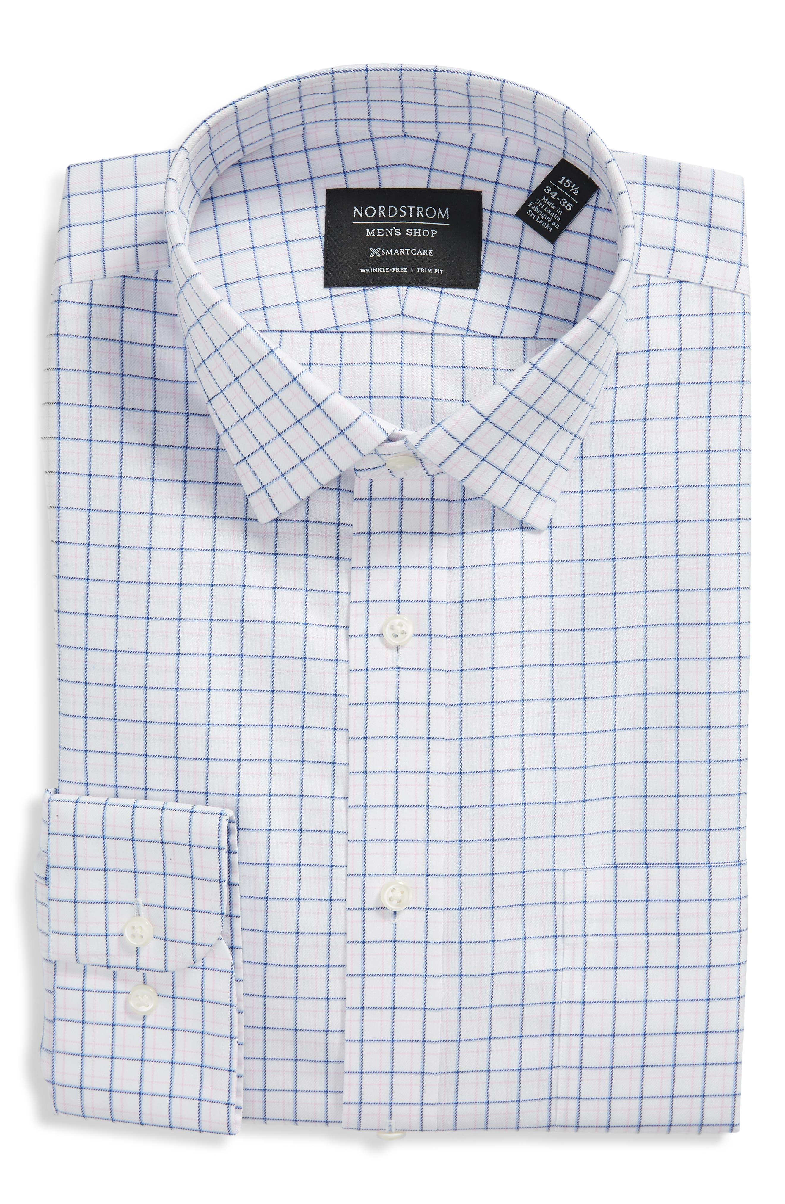 Image of NORDSTROM MEN'S SHOP Trim Fit Check Dress Shirt