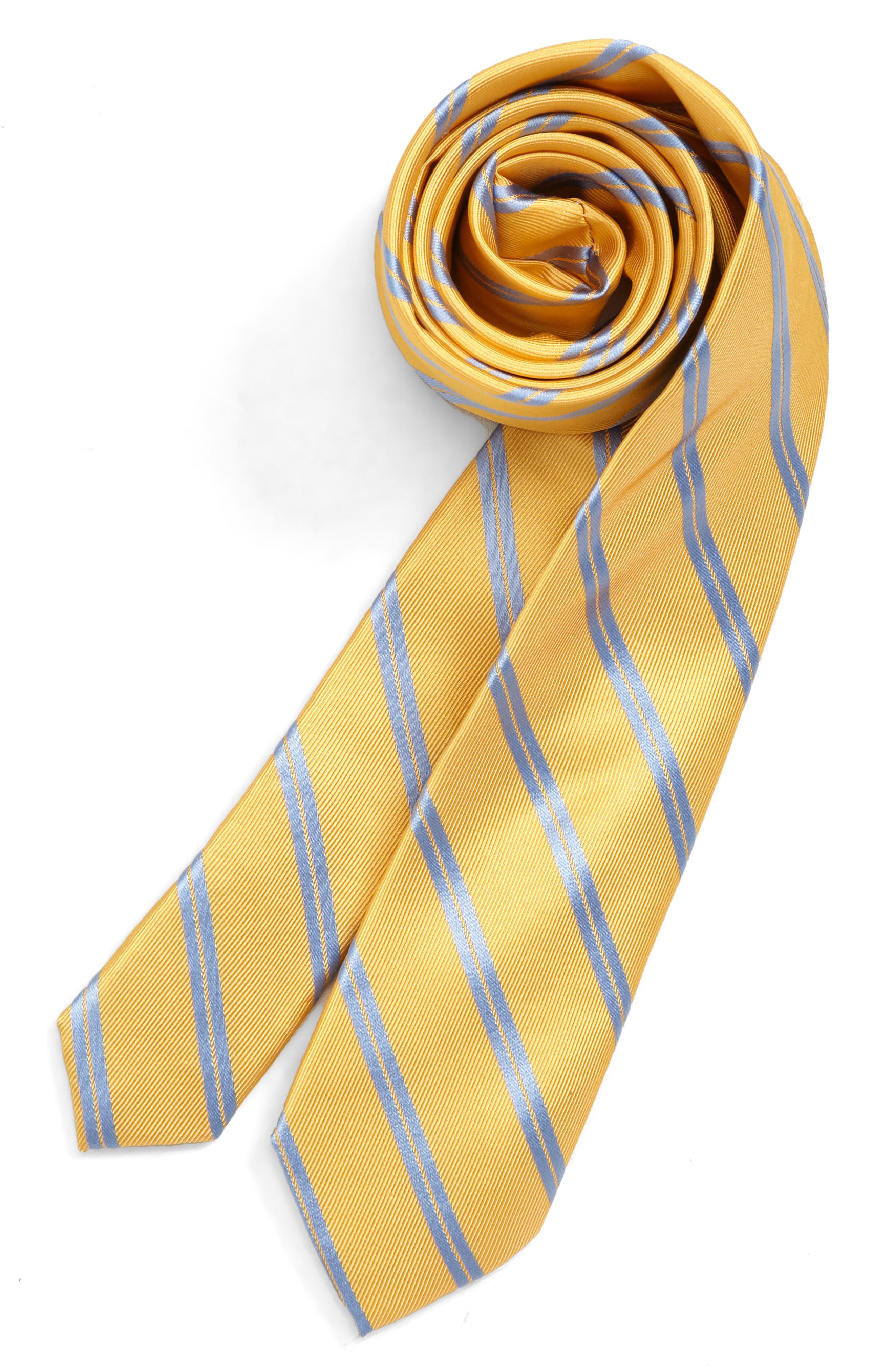 Boys Nordstrom Hudson Stripe Silk Tie Size Big Boy  Pink
