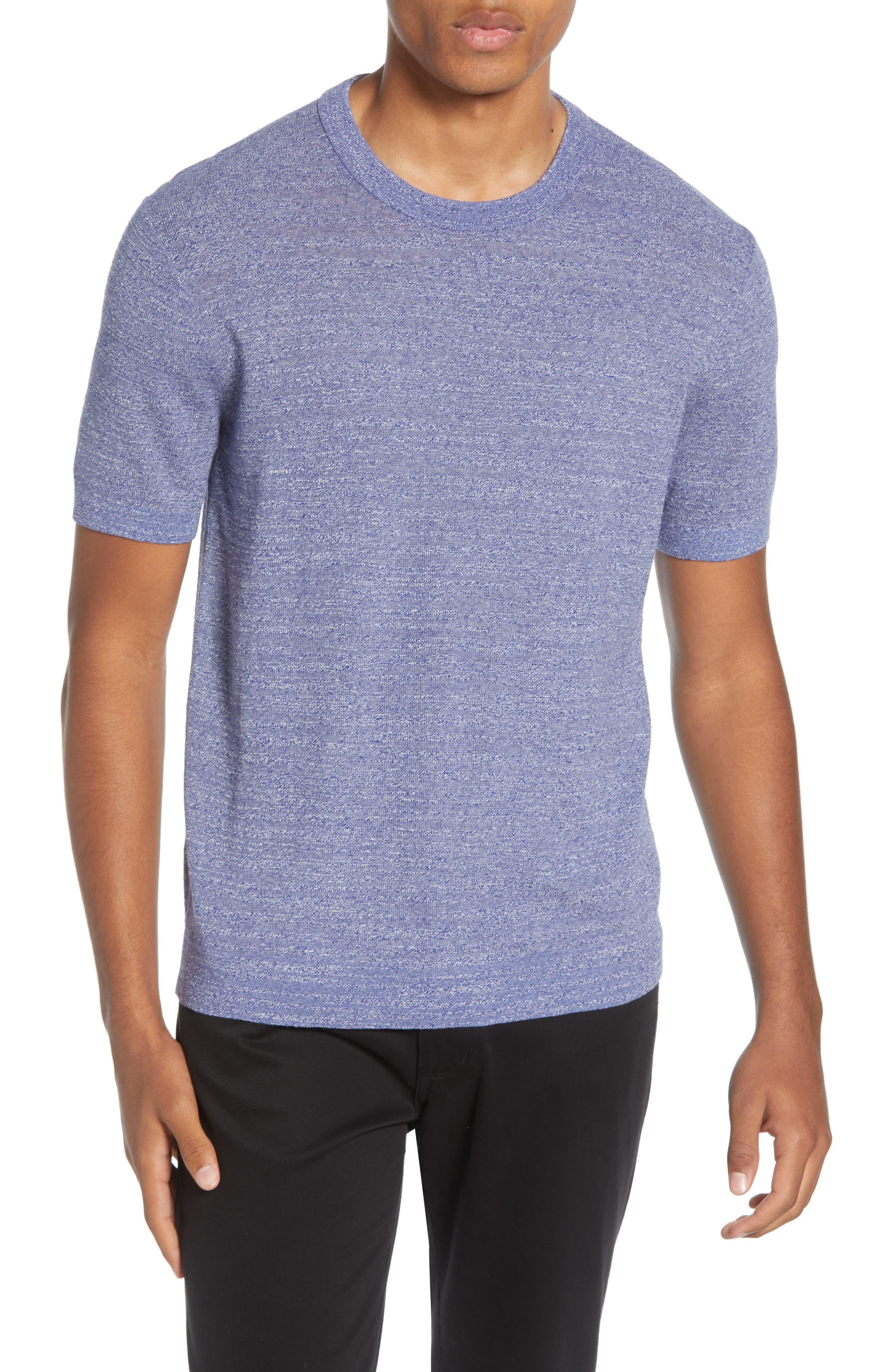 Club Monaco Short Sleeve Cotton Sweater, Blue