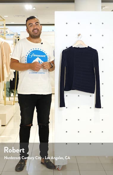 Mixed Rib Crewneck Sweater, sales video thumbnail