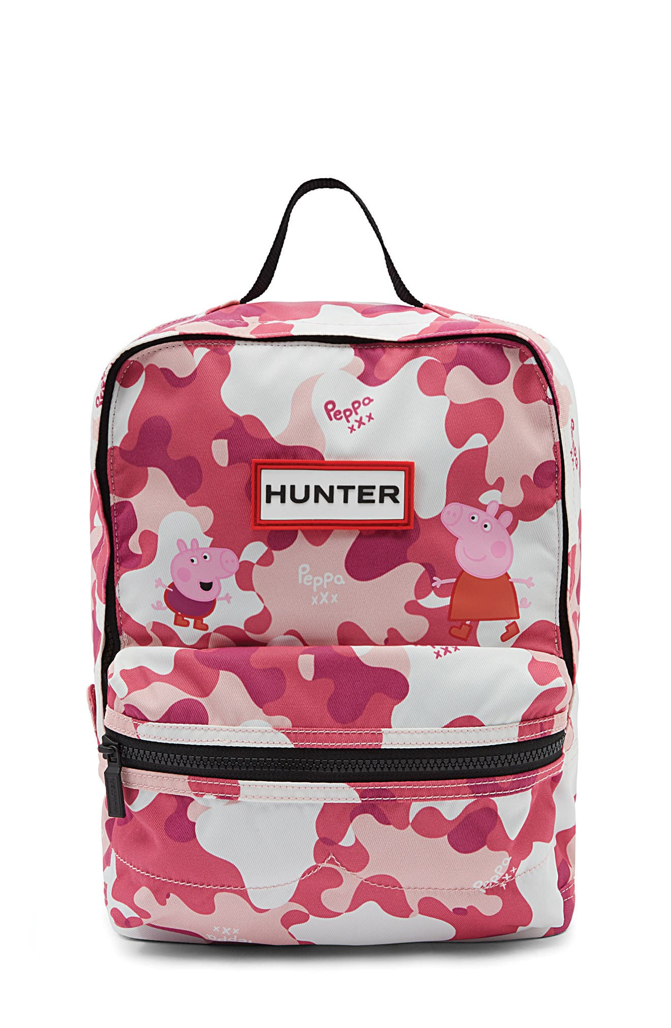 Girls Hunter Peppa Muddy Puddles Nylon Backpack  Pink