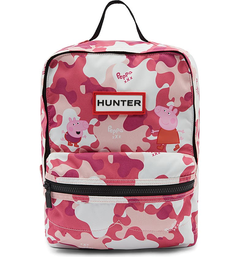 HUNTER Peppa Muddy Puddles Nylon Backpack, Main, color, CANDY FLOSS