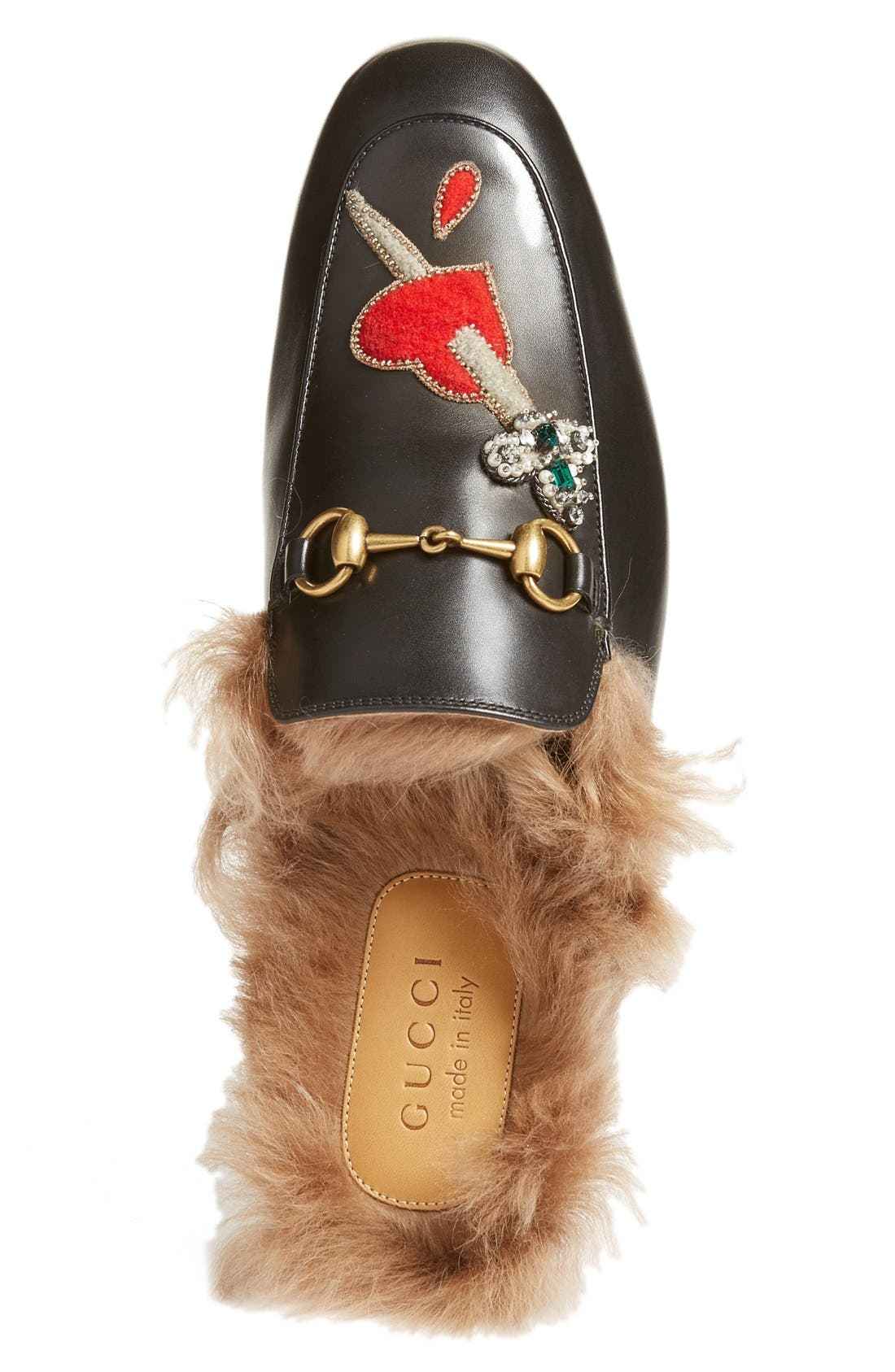 ,                             Princetown Genuine Shearling Lined Mule Loafer,                             Alternate thumbnail 43, color,                             010