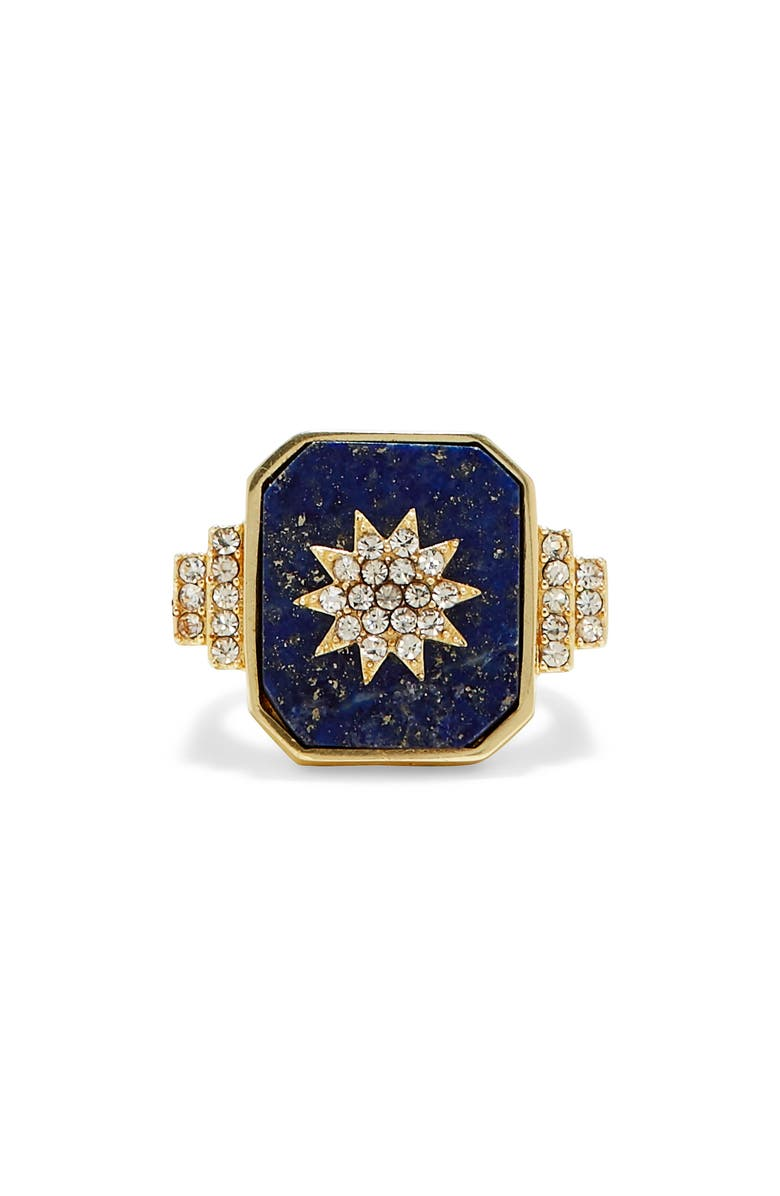 SOLE SOCIETY Starburst Cocktail Ring, Main, color, 710