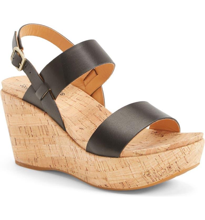 KORK-EASE<SUP>®</SUP> 'Austin' Slingback Wedge Sandal, Main, color, 001