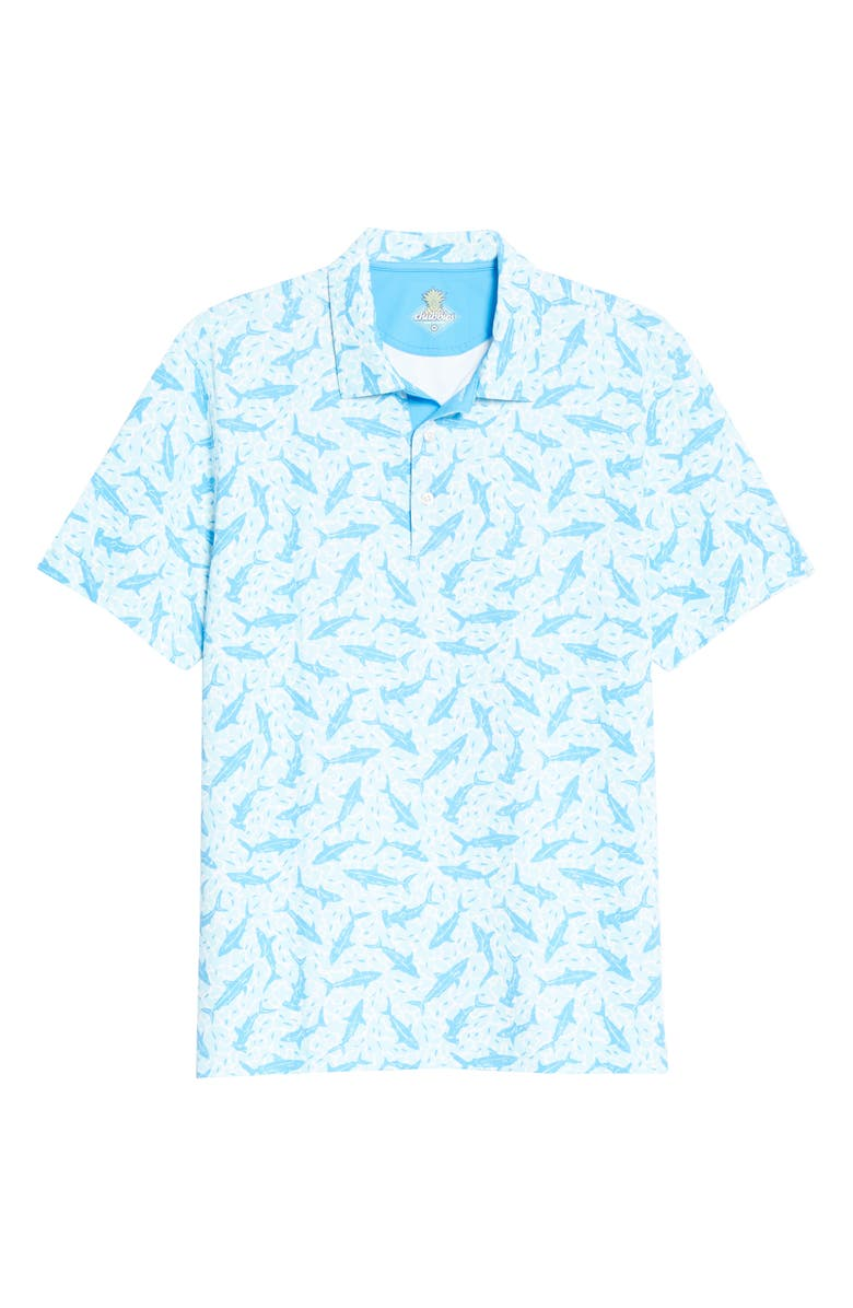 CHUBBIES The Marco Polo Short Sleeve Polo, Main, color, Bright Blue