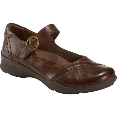 Earth Natural Superior Mary Jane Flat, Brown