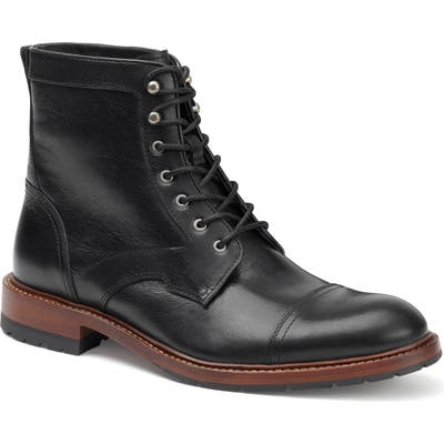 Trask Lawrence Cap Toe Boot, Black