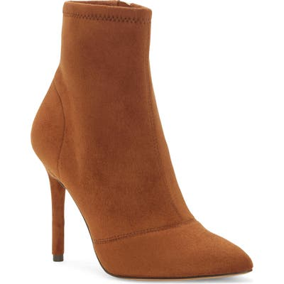 Jessica Simpson Lailra Pointed Toe Stiletto Boot- Brown