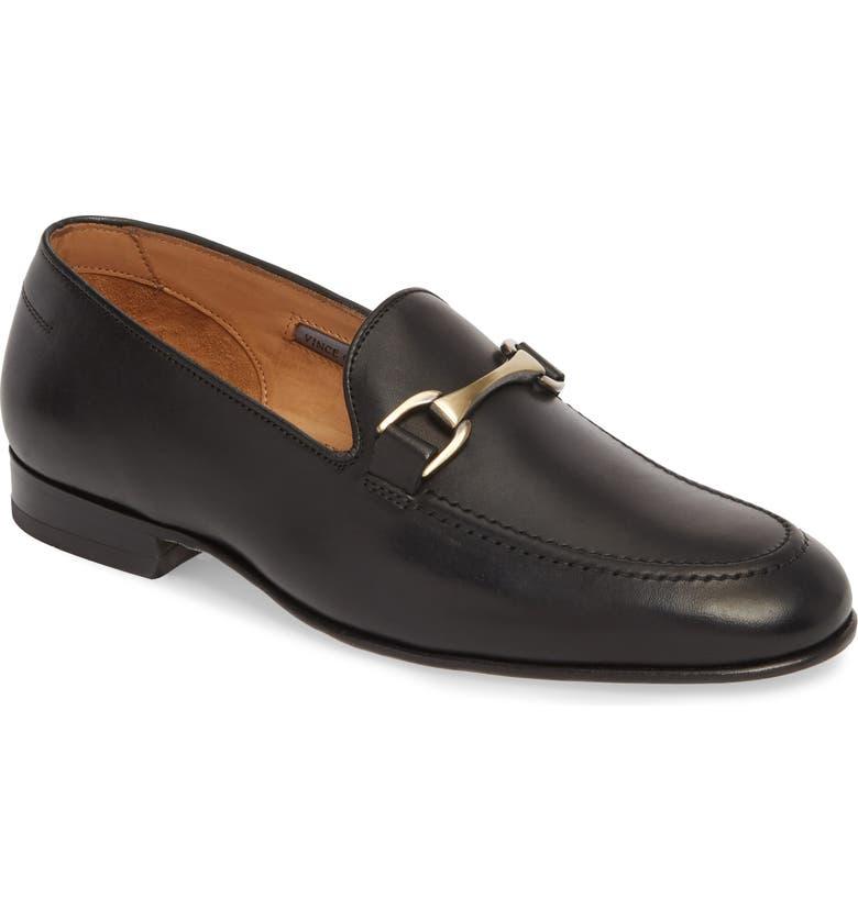 VINCE CAMUTO 'Borcelo' Bit Loafer, Main, color, BLACK LEATHER