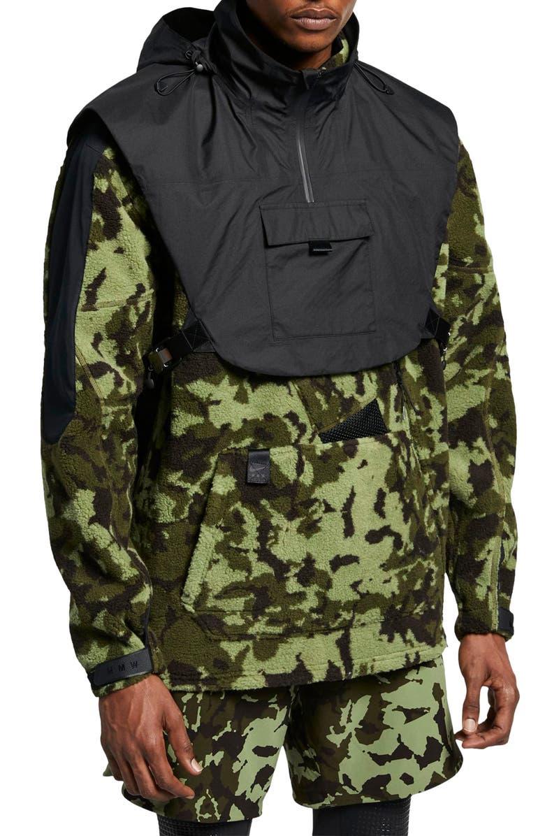 NIKE x MMW Beryllium Men's Hooded Jacket, Main, color, BLACK