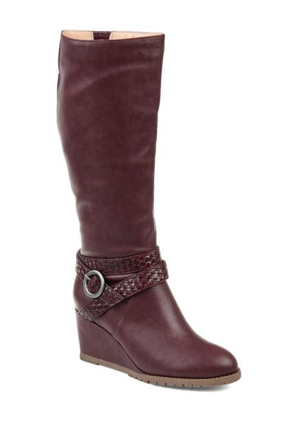 Image of JOURNEE Collection Garin Waterproof Faux Fur Trim Boot - Wide Calf