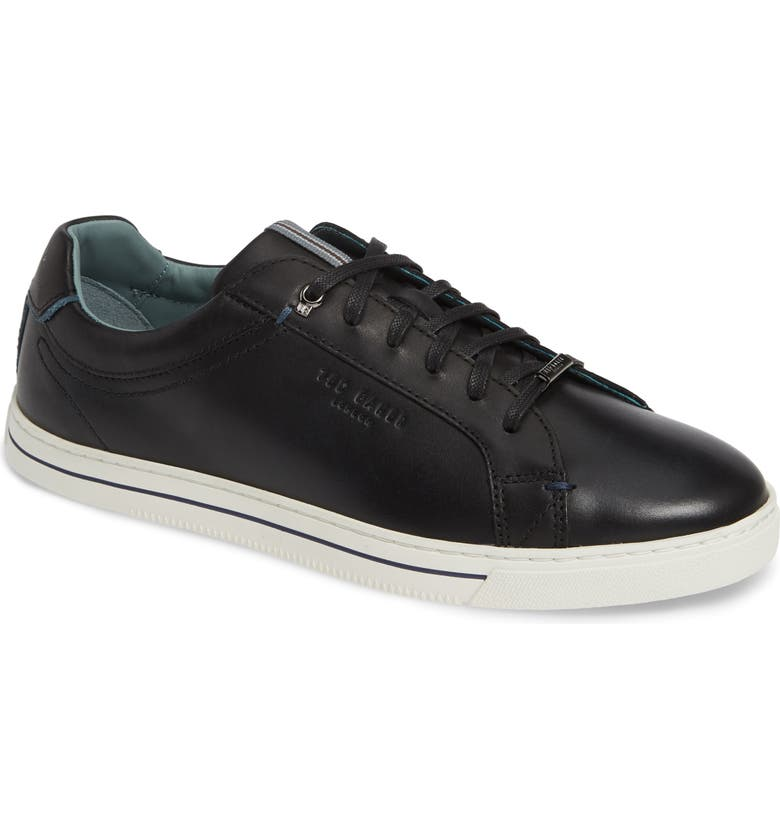 TED BAKER LONDON Thawne Sneaker, Main, color, BLACK LEATHER