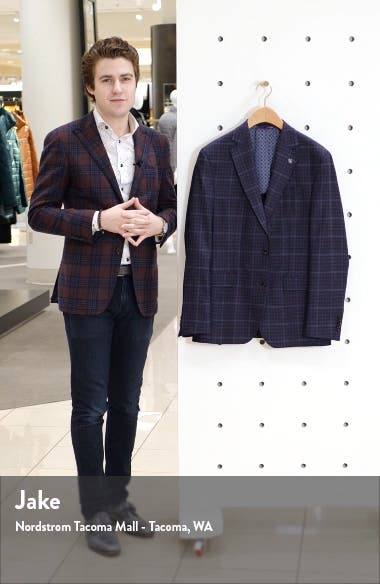 Konan Trim Fit Plaid Wool Sport Coat, sales video thumbnail