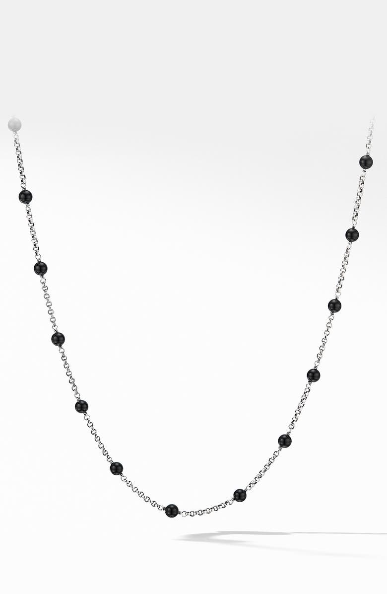 DAVID YURMAN Cable Collectibles<sup>®</sup> Bead & Chain Necklace, Main, color, BLACK ONYX