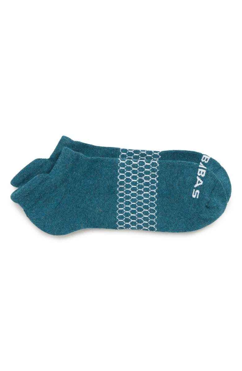 BOMBAS Heather Ankle Socks, Main, color, DEEP TEAL