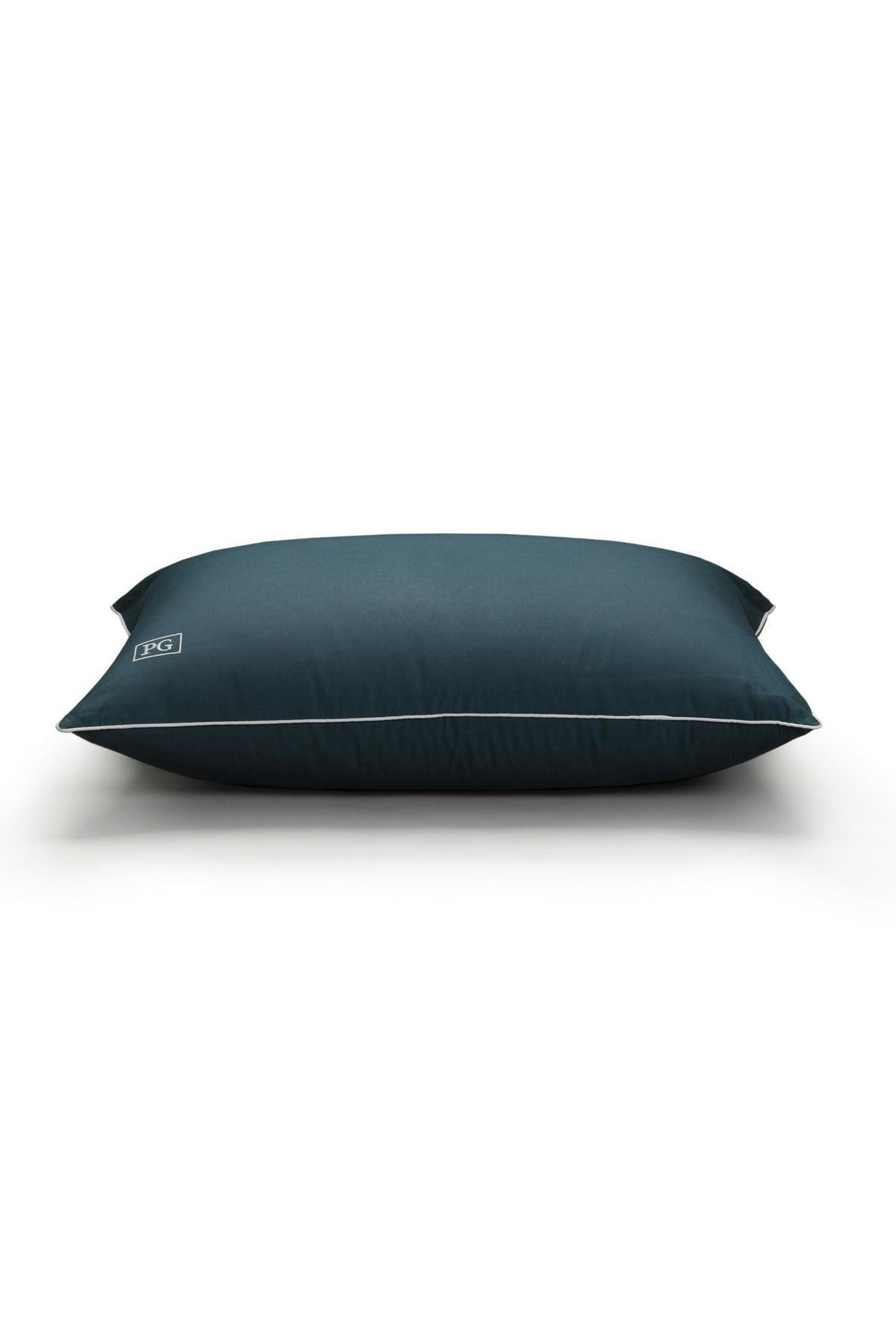 Image of Pillow Guy Standard/Queen Down Alternative Stomach Sleeper Soft Pillow with MicronOne Technology - Navy/White