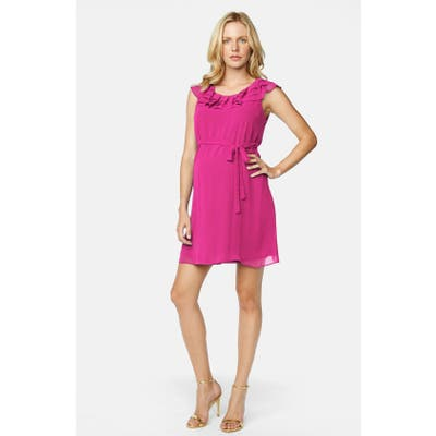 Maternal America Ruffled Maternity Dress