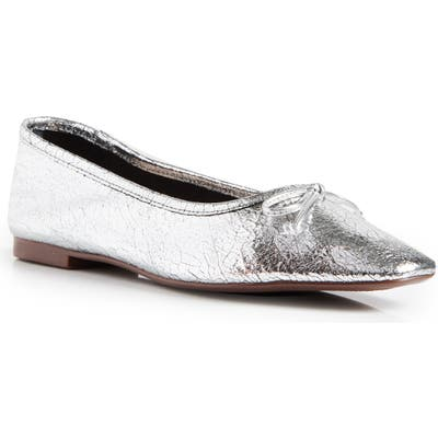 Schutz Arissa Square Toe Ballet Flat, Metallic