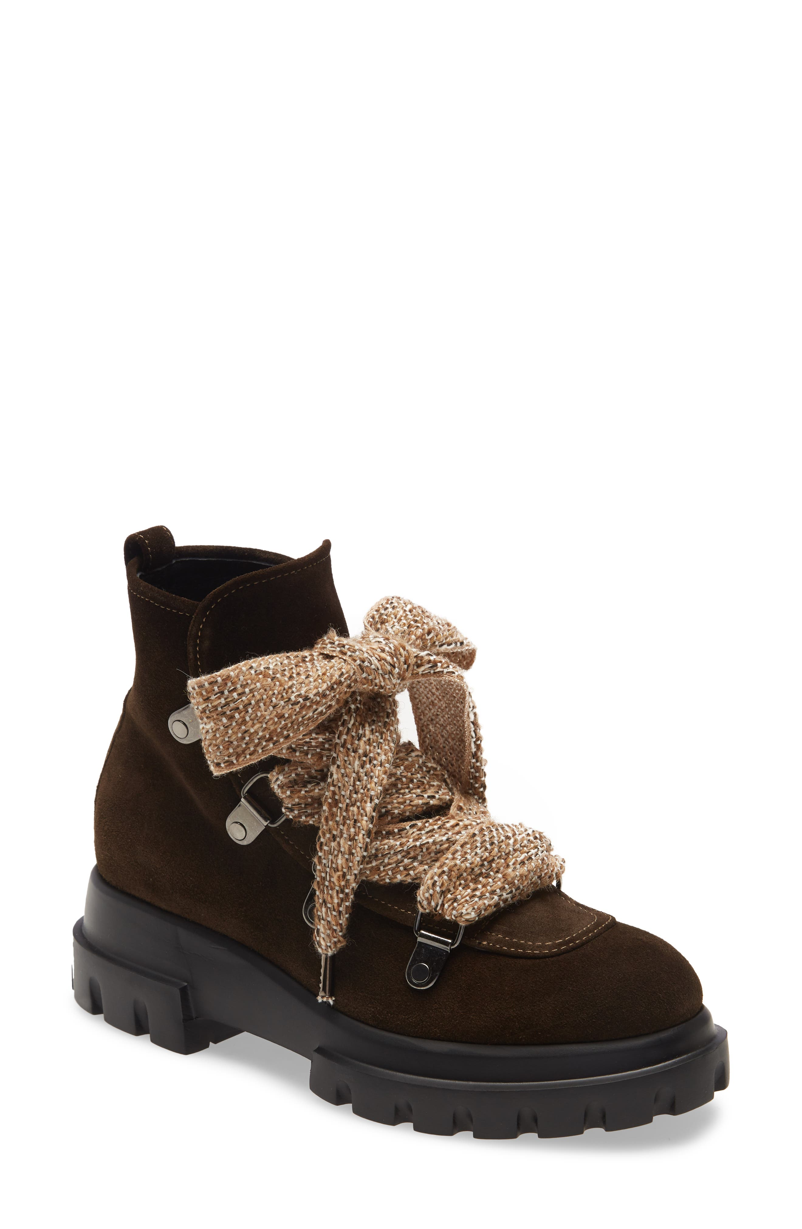Bold lacing and a smooth finish add sophistication to this modern hiker boot set on a hefty platform and toothy lug sole. Style Name: Agl Lug Hiker Boot (Women). Style Number: 6098972. Available in stores.