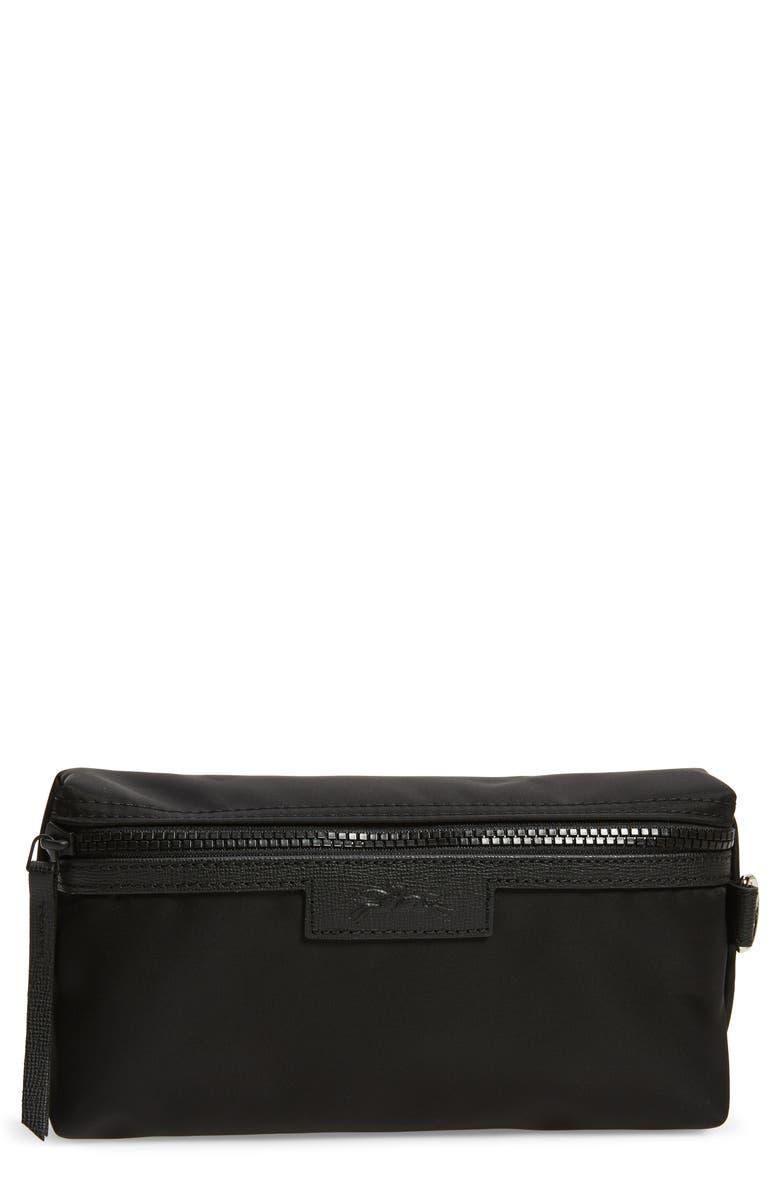 LONGCHAMP Le Pliage Neo Cosmetics Case, Main, color, BLACK