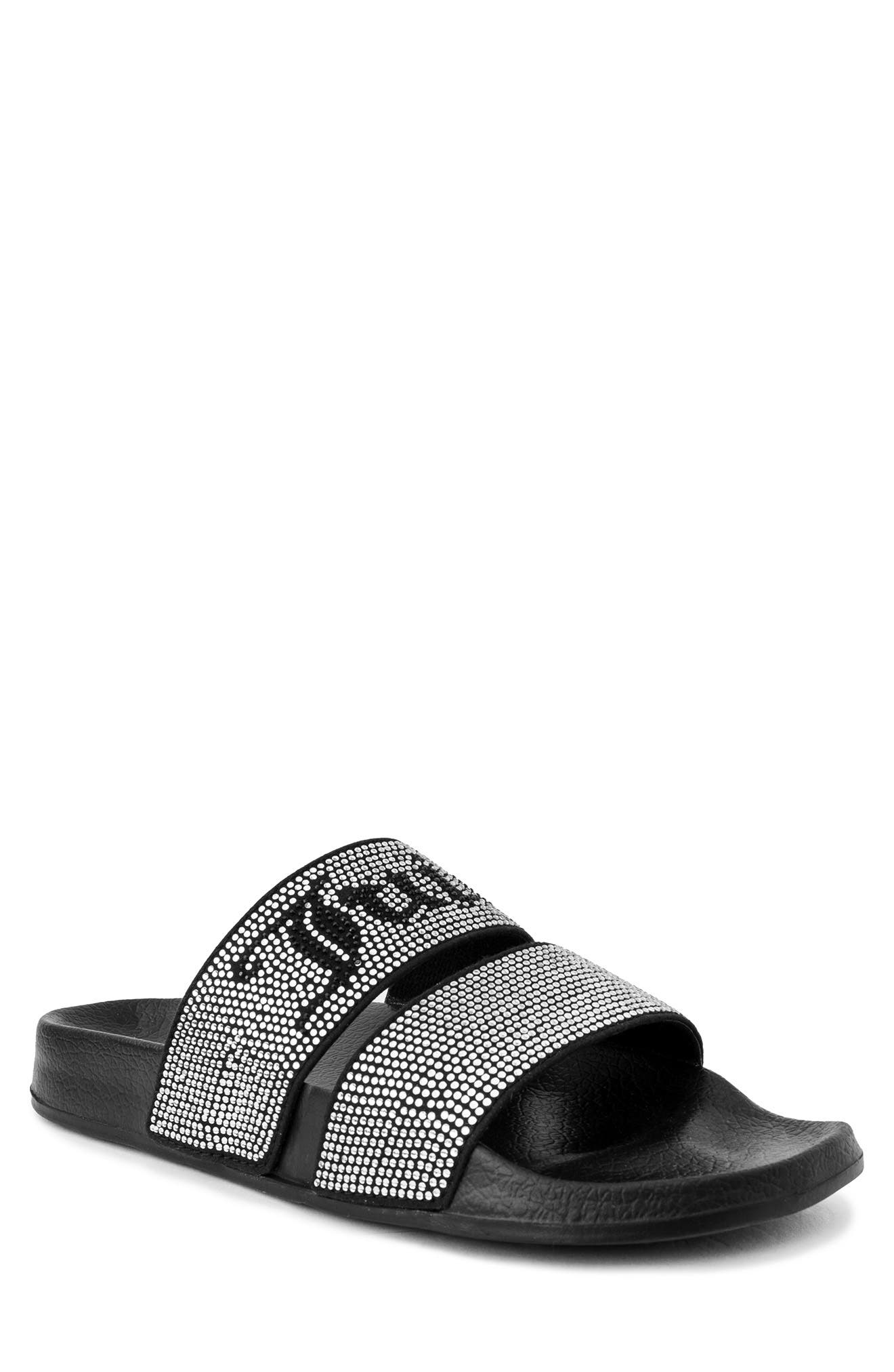 Juicy Couture WINX EMBELLISHED DOUBLE STRAP SLIDE SANDAL