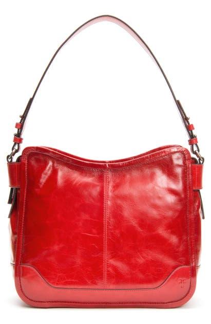 Frye Bags MEL LEATHER HOBO BAG - RED