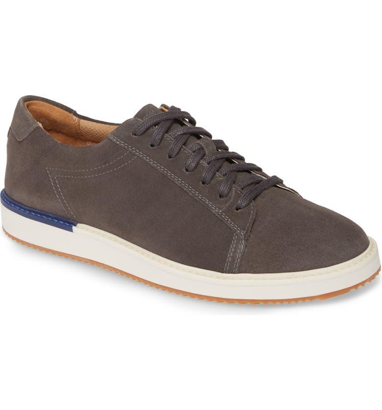 HUSH PUPPIES<SUP>®</SUP> Heath Sneaker, Main, color, DARK GREY SUEDE