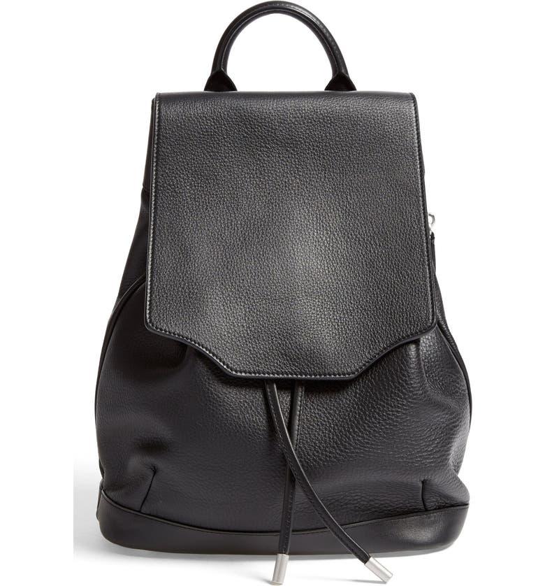 RAG & BONE 'Pilot' Leather Backpack, Main, color, 001