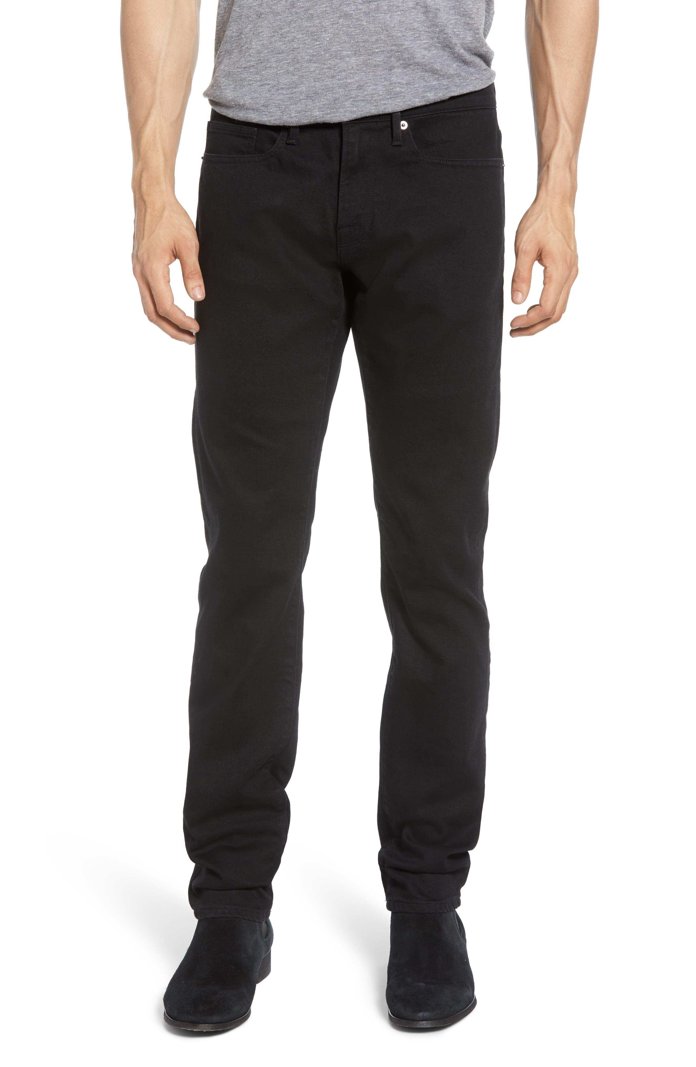 Men's Frame L'Homme Slim Fit Jeans,  31 - Black