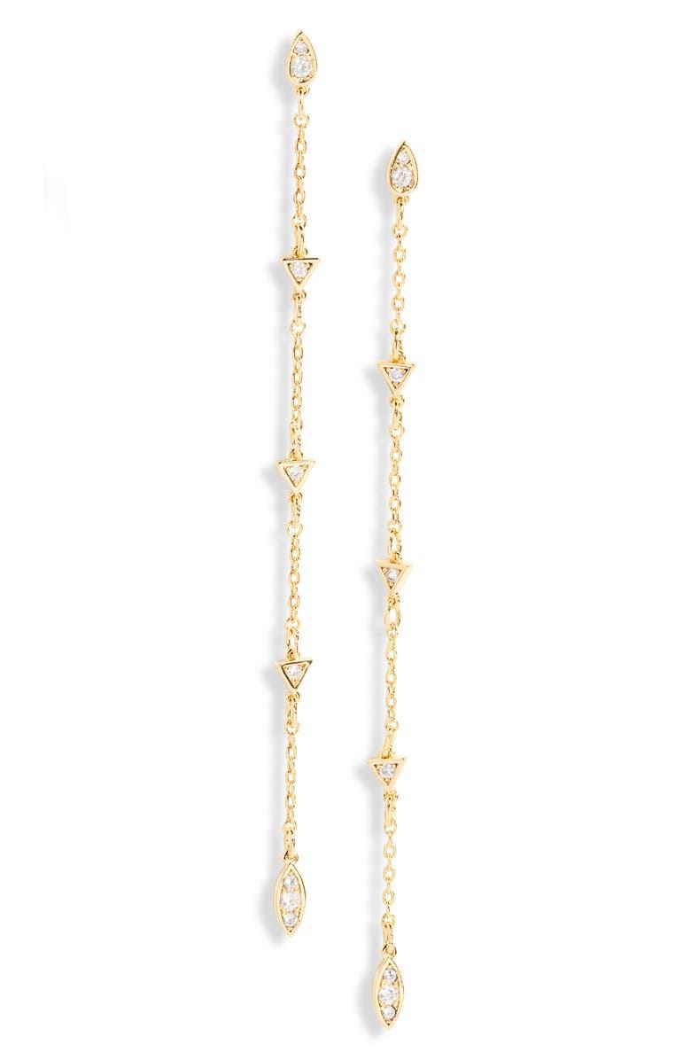 UNCOMMON JAMES BY KRISTIN CAVALLARI West Village Drop Earrings, Main, color, GOLD