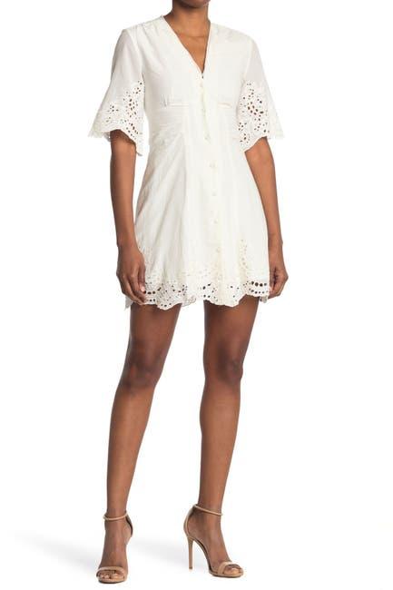 Image of ALLSAINTS Una Eyelet Lace Mini Dress