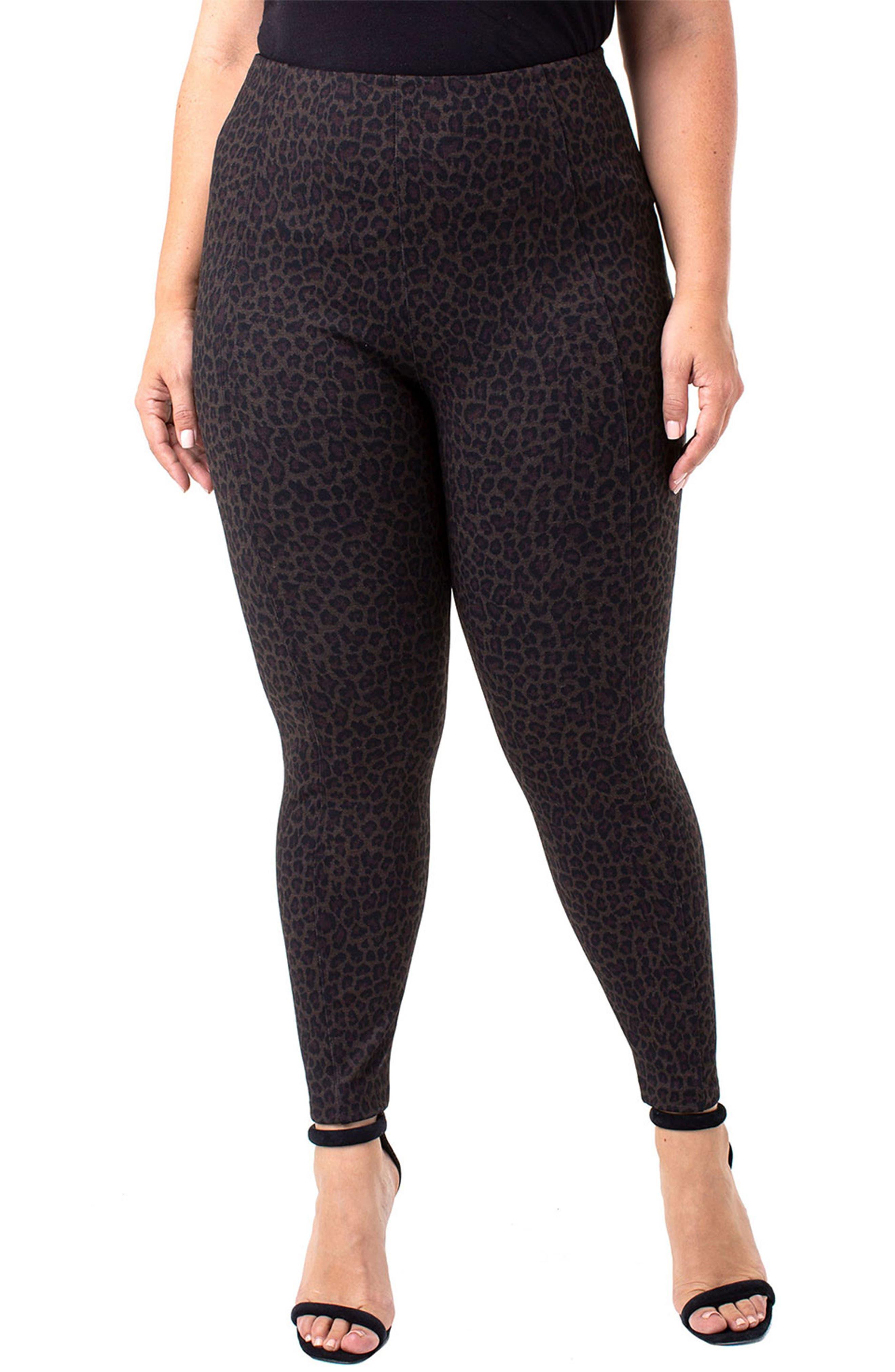 Image of Liverpool Jeans Co Reese High Waist Cheetah Print Leggings