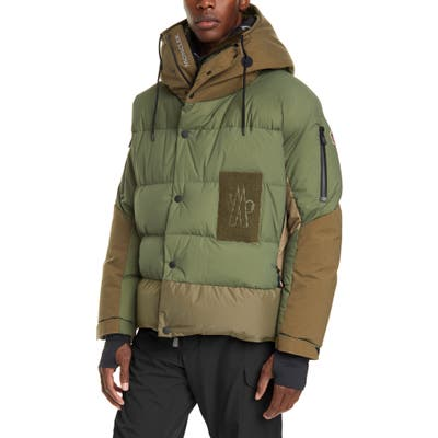 Moncler Grenoble Hooded Puffer Jacket, Green