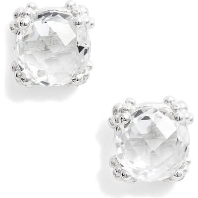Anzie Dew Drop White Topaz Cluster Stud Earrings