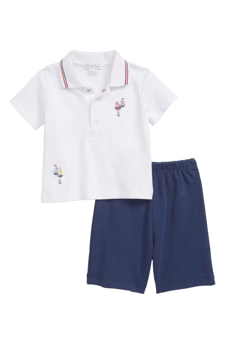 KISSY KISSY Summer Sails Bermuda Polo Shirt & Shorts Set, Main, color, 194