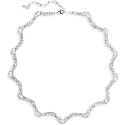 Cristabelle Wavy Crystal Collar Necklace