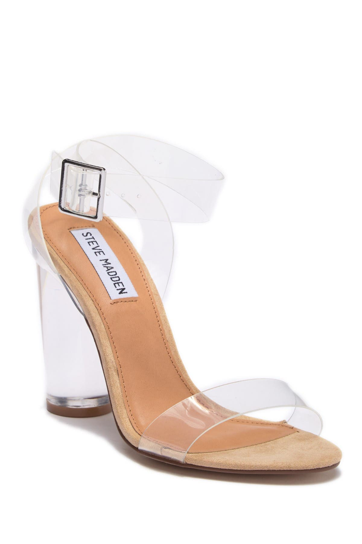 Image of Steve Madden Clear Heeled Sandal