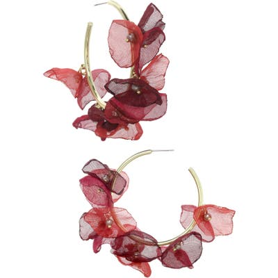 Stella + Ruby Chiffon Petal Hoop Earrings