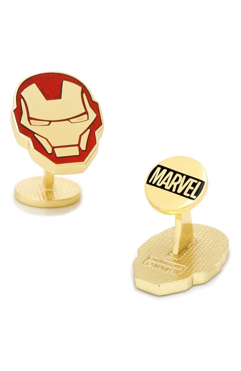 CUFFLINKS, INC. Marvel Iron Man Cuff Links, Main, color, RED MULTI