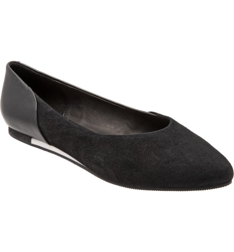 SAVA Lea Flat, Main, color, BLACK SUEDE
