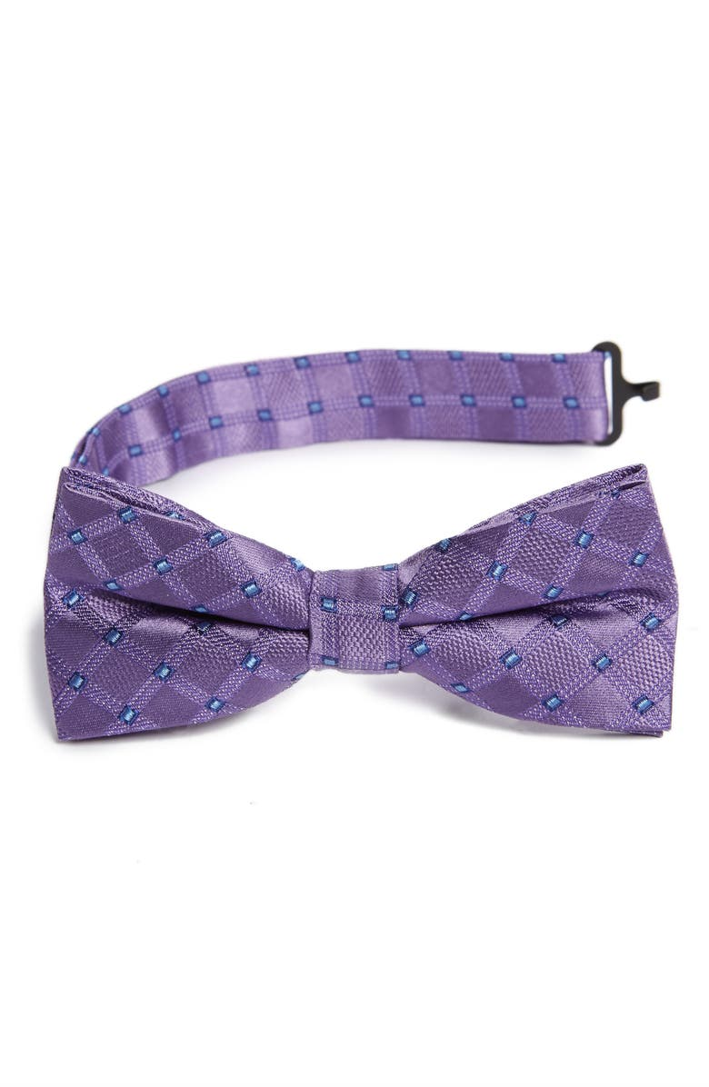 NORDSTROM Benton Grid Bow Tie, Main, color, 500