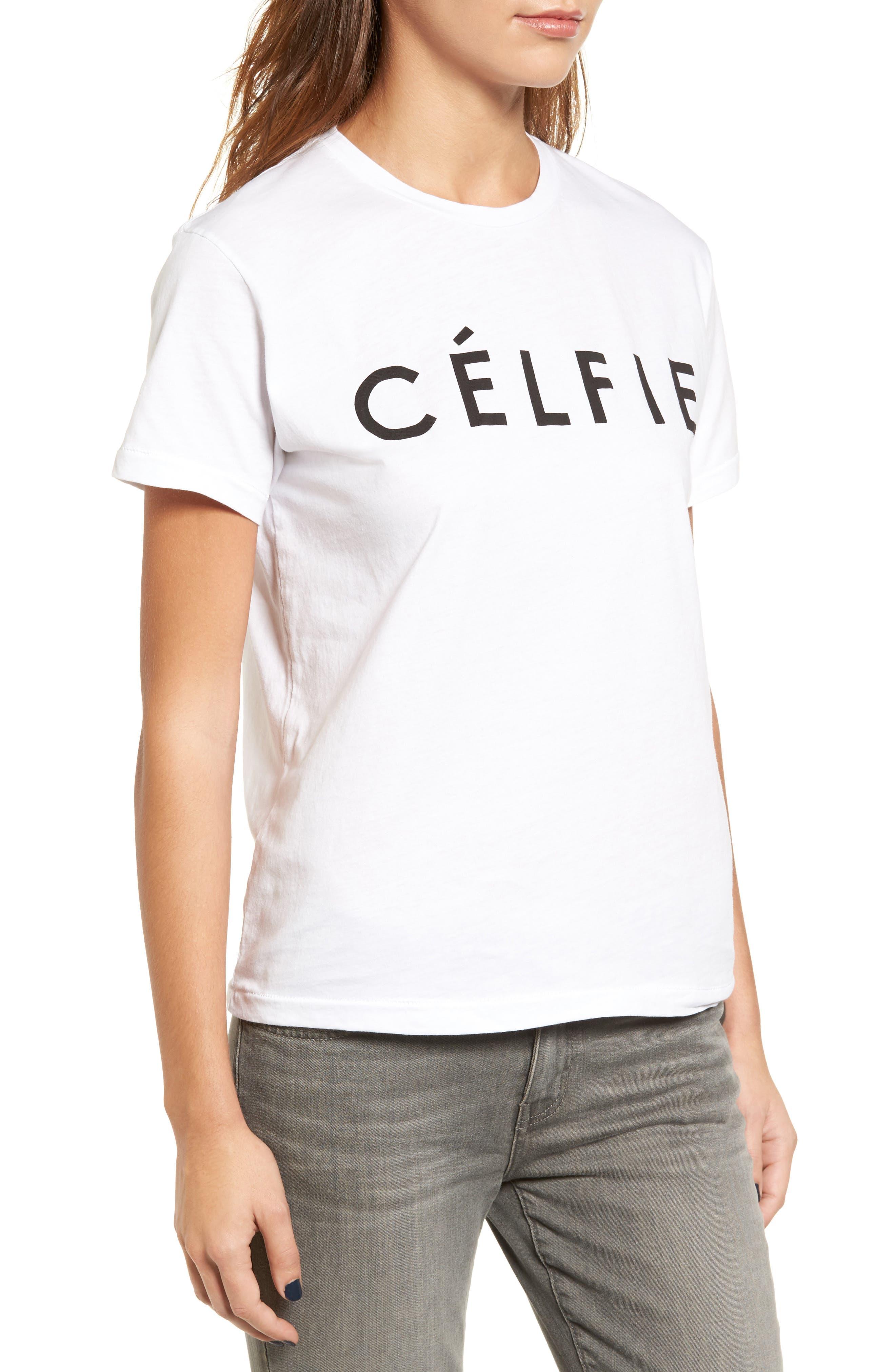 ,                             'Célfie' Graphic Tee,                             Alternate thumbnail 14, color,                             100