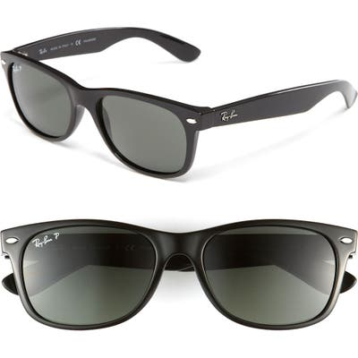 Ray-Ban Standard New Wayfarer 55Mm Polarized Sunglasses - Polarized Black